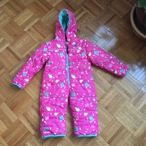 Molehill girls ski outfit jumpsuit 18m animal pink